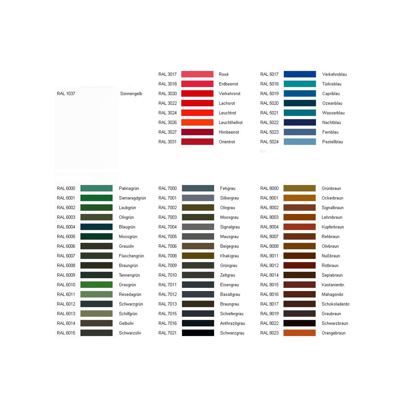 Intec Wunschfarbe für Ihren Rahmen